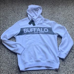 Buffalo David Bitton White Hoodie New With Tags